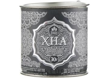 Индийская хна для бровей и биотату Grand Henna (Viva) + кокосовое масло (графит) 30г