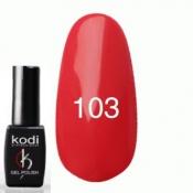 Гель-лак №103 Красно коралловыйй 8 мл