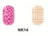 Виниловые трафареты для маникюра NK14