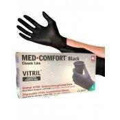 Перчатки витрил MED-COMFORT черные L 100 шт