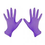 Перчатки Benovy нитрил сиреневые  M 100 шт