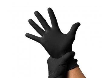 Перчатки ARCHDALE нитрил черные XS 100 шт