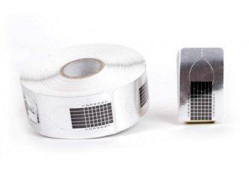 Формы для наращивания узкие-серебро 500 шт
