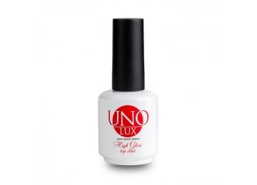 Uno Lux High Gloss Top Coat 15 мл  Верхнее покрытие